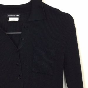 ESPRIT vintage black sweater dress. Size M